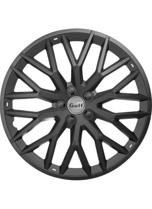 Set 4 stuks wieldoppen 16 inch GT40 Zwart