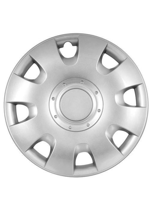 Wieldoppen set 15 inch Standaard Zilver (4 stuks)