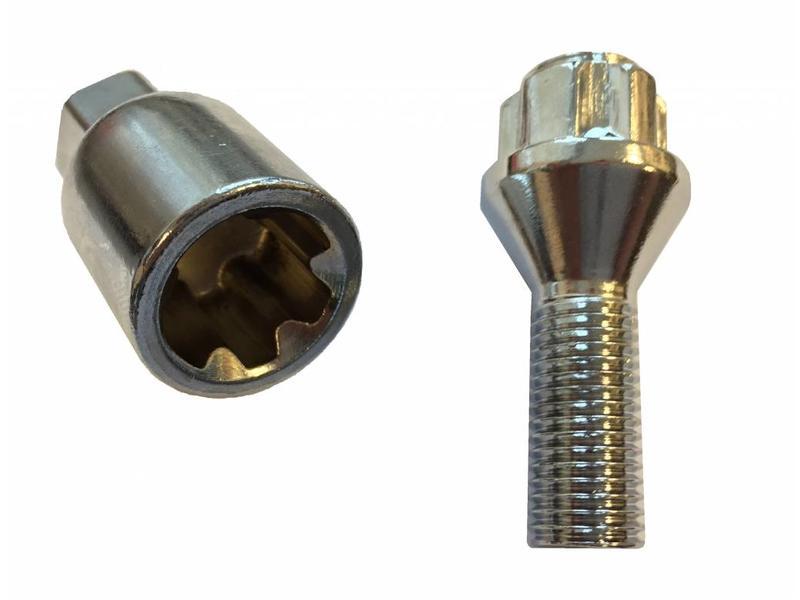Evotek Slotbouten Conisch 14x1,5 - 28 mm - kop 17