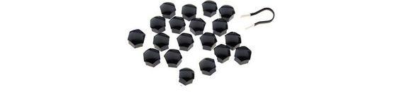 Zwarte wielbout / wielmoer kapjes (dopjes)