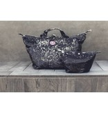 Cosmetics Bag Pailletten Black/Silver