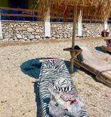Strandlaken/hammamdoek Zebra