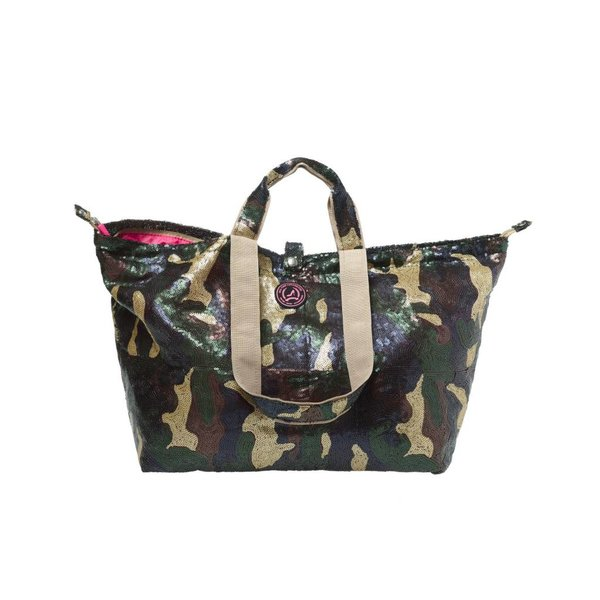 Small Shopper Sequins Camouflage Matt