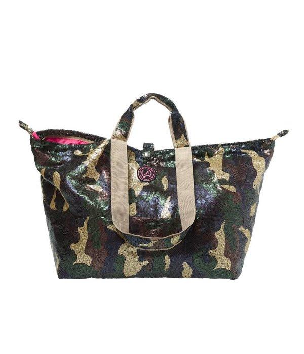 Kleine Shopper Pailletten Camouflage Mat