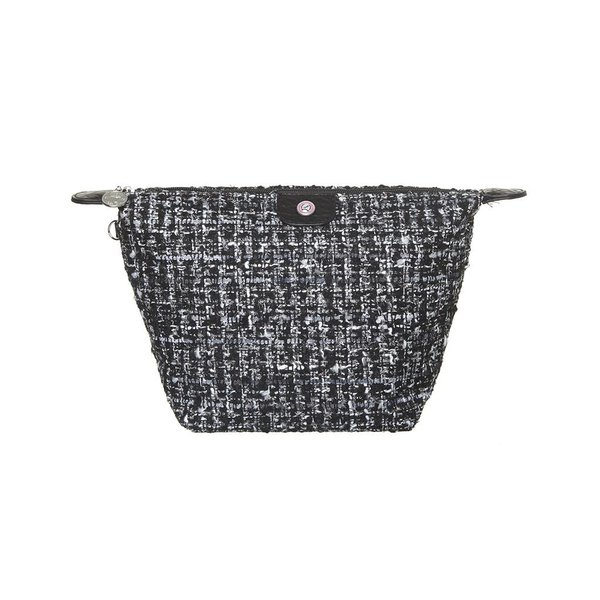 Cosmetics Bag Tweed Black