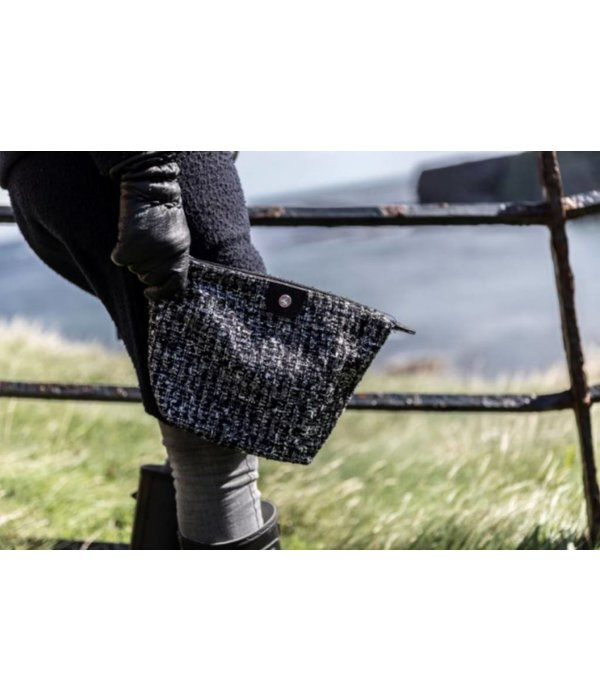 Cosmetics Bag Tweed Black