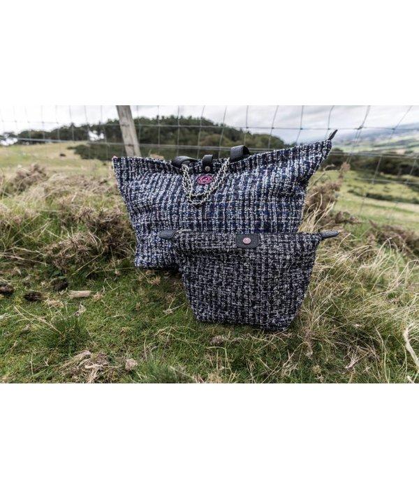 Toilettas Tweed Zwart
