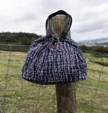 Kleine Shopper Tweed Blauw