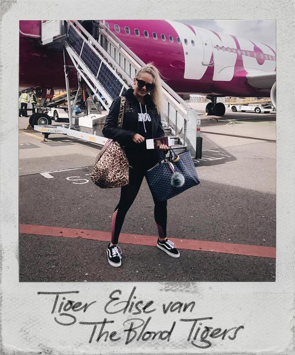 Tiger Elise met de grote shopper luipaard