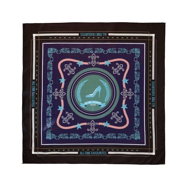 ATF scarf Black & Purple