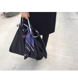 Grote Shopper Shiny Nylon Zwart