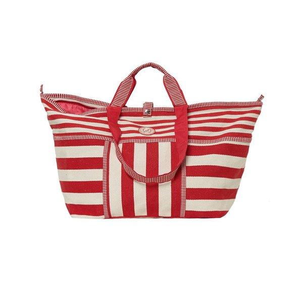 Kleine Shopper Stripes Rood