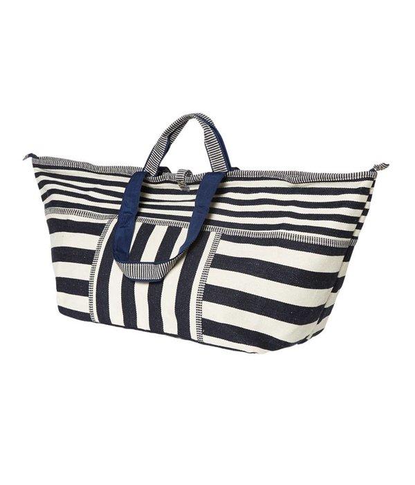 Grote Shopper Stripes Blauw