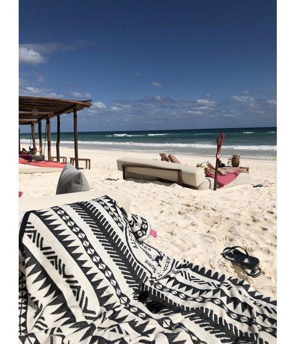 Beach Towel Desert Print Black