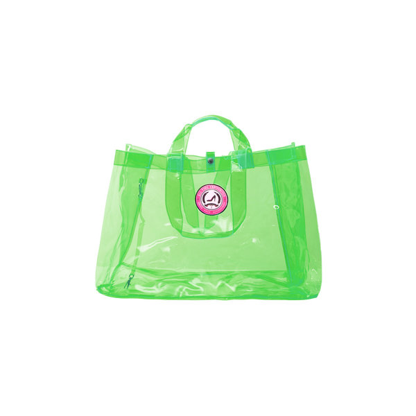 Small Shopper Transparant Neon Green - limited edition