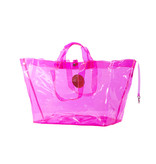 Grote Shopper Transparant Neon Pink