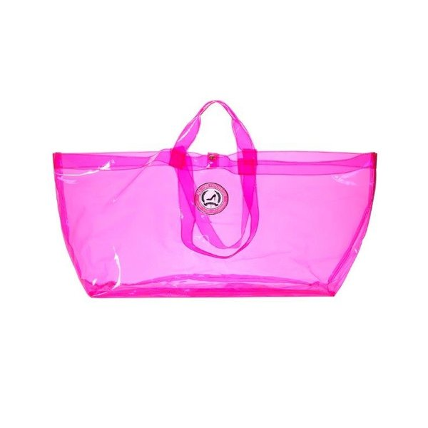 Grote Shopper Transparant Neon Pink - limited edition