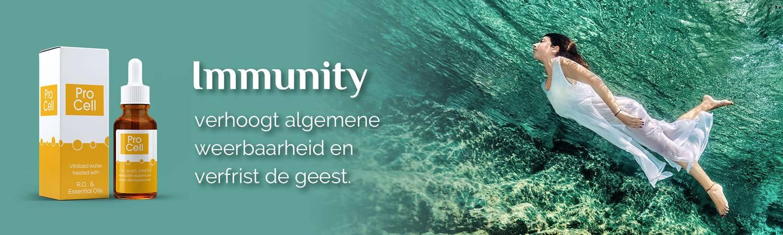 Immunity, verhoogt algemene weerbaarheid en verfrist de geest.