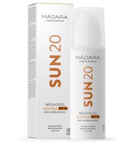 MÁDARA SUN20 Weightless Sonnenmilch SPF20