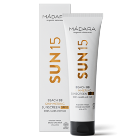 MÁDARA SUN15 Beach BB Shimmering Sunscreen SPF15
