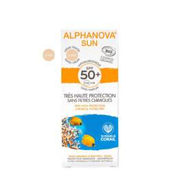 Alphanova SUN Tinted Face Cream SPF50+ fragrance free