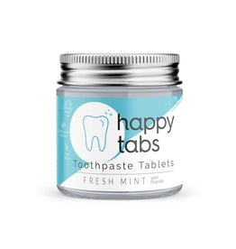 Happy Tabs Toothpaste Tablets Fresh Mint Fluoride