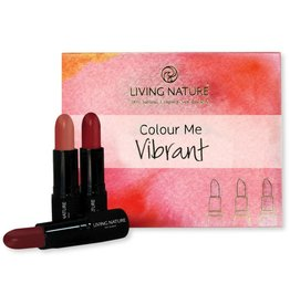Living Nature Lipstick Set Colour Me Vibrant