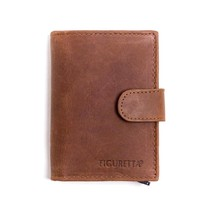 Cardprotector leather - Hunter brown