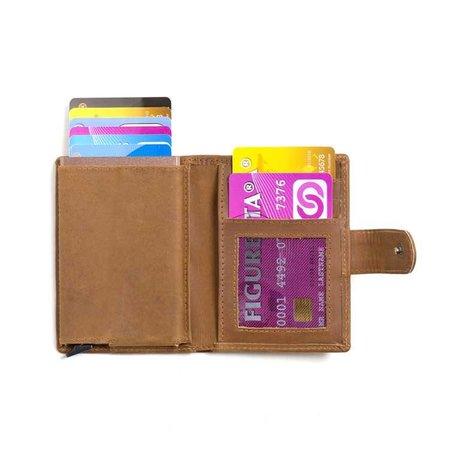 Figuretta Cardprotector leer - Kaki