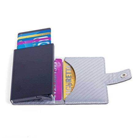 Figuretta Cardprotector Look Carbone - Argent