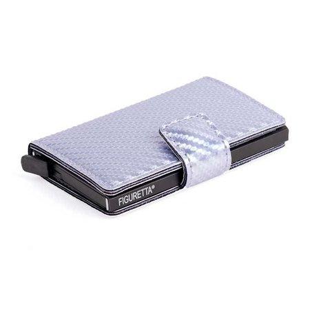 Figuretta Cardprotector Carbon look- Zilver