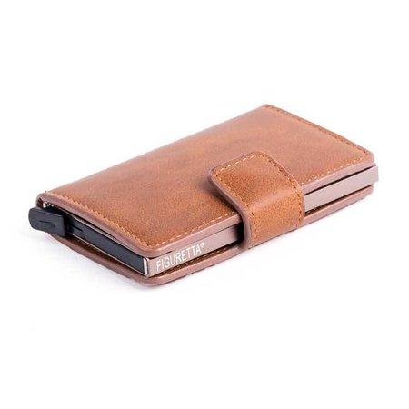 Figuretta Cardprotector PU leer- Cognac