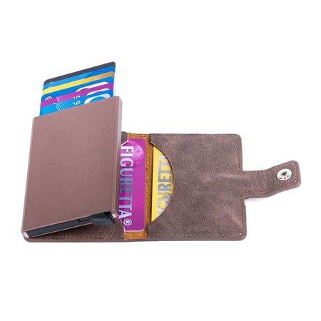 Figuretta Cardprotector PU leer - Donkerbruin