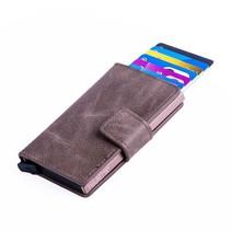 Cardprotector PU leather - Dark brown
