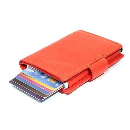 Figuretta Cardprotector cuir - Rouge