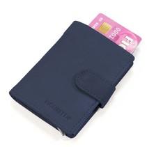 Cardprotector cuir - Bleu foncé