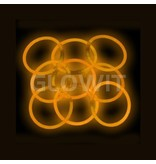 Glowit 100 glow bracelets - 200mm x 5mm - Orange