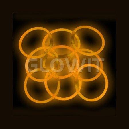 Glowit 100 glow armbanden - 200mm x 5mm - Oranje