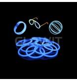 Glowit 100 glow armbanden - 200mm x 5mm - Blauw