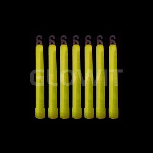 Glowit 25 glowsticks - 150mm x 15mm - Yellow