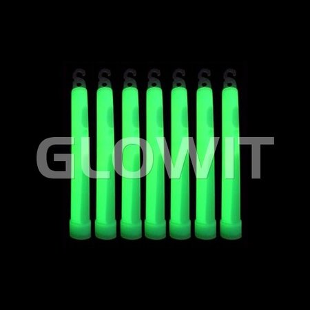 Glowit 25 glowsticks - 150mm x 15mm - Green
