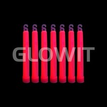 25 Glowsticks 150mm Rood