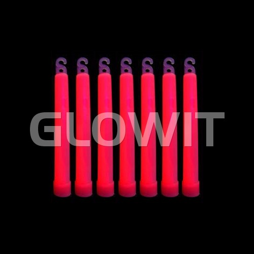 Glowit 25 glowsticks - 150mm x 15mm - Red