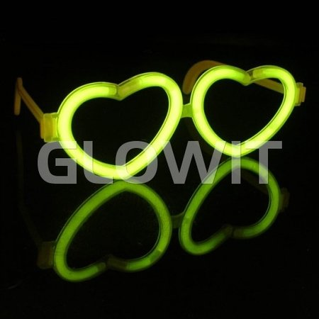 Glowit 25 Hartjes bril connectors (Zonder sticks)
