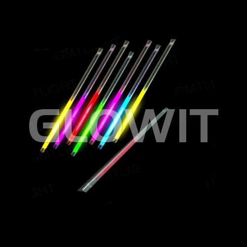 Glowit 25 lichtgevende rietjes - 220mm x 7mm - Mix