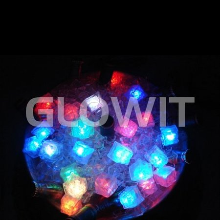 Glowit Led ijsblokje - 30mm x 30mm x 30mm - Multi