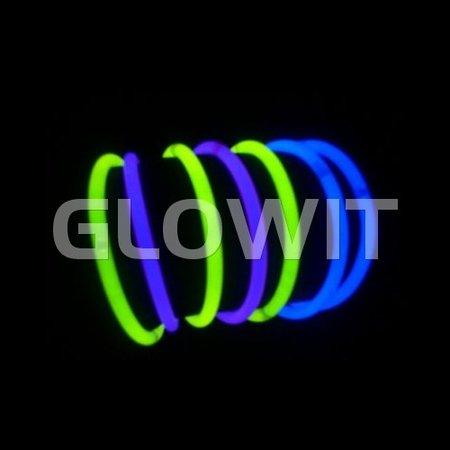 Glowit 100 glow armbanden - 200mm x 5mm - Groen