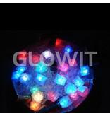 Glowit Led ijsblokje - 30mm x 30mm x 30mm - Rood