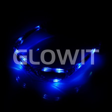 Glowit Led zonnebrill - Blauw