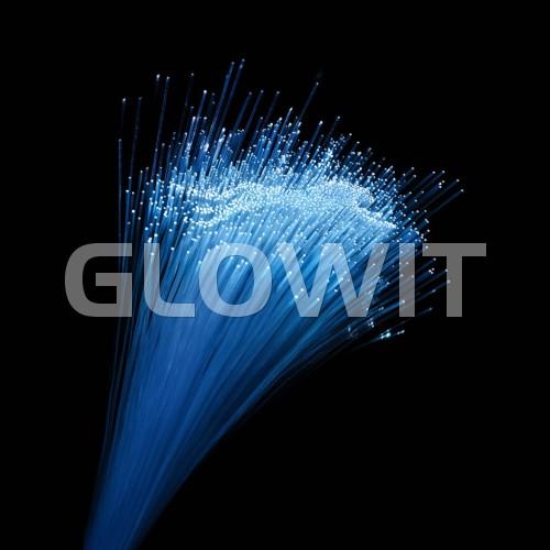 Glowit Fiberoptic party stick - 400mm x 10mm - Multi color
